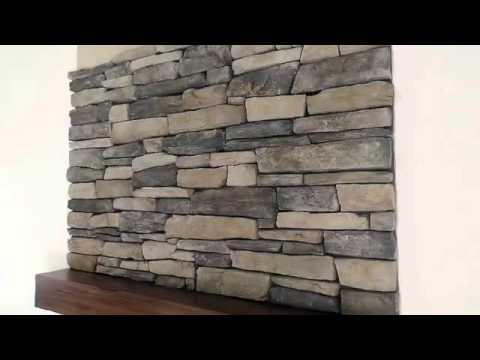 Rock Stone Fireplace Installing Veneer Stone