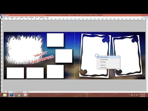 HOW to DESIGN wedding album in photoshop tutorial | 12x36 CS3,CS5,cs3,cs6,CS5,cs5
