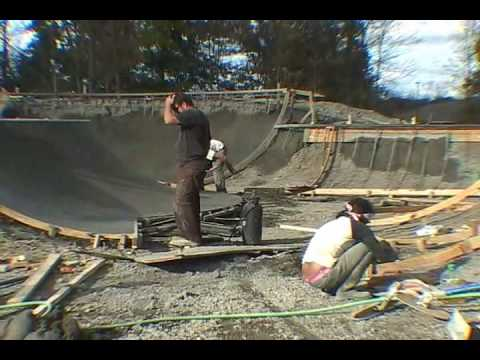 Saugerties Skatepark - Forming the Concrete
