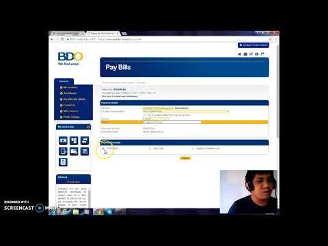 PLDT BILL payment via BDO Online Banking Part 1