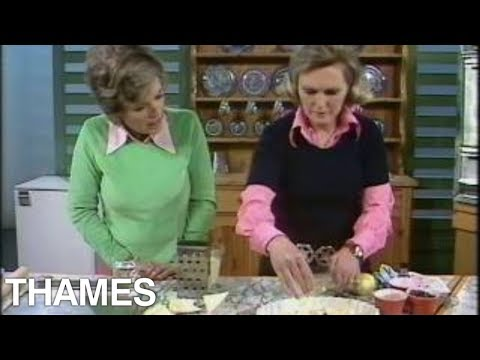 Mary Berry makes  Bread and butter pudding | Bread and butter pudding |  Good Afternoon | 1975