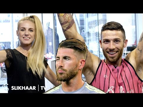 Sergio Ramos Hairstyle 2016 football EM - Men's Hair Tutorial - Created By Hair lovers