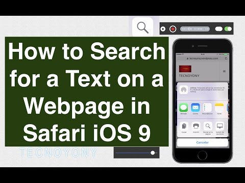 How to Search for a Text on a Webpage in Safari iOS 9