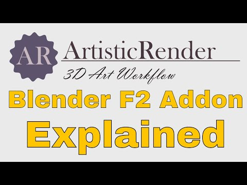 Blender f2 addon explained: Short tutorial#1