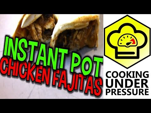 Instant Pot Chicken Fajitas with Black Beans
