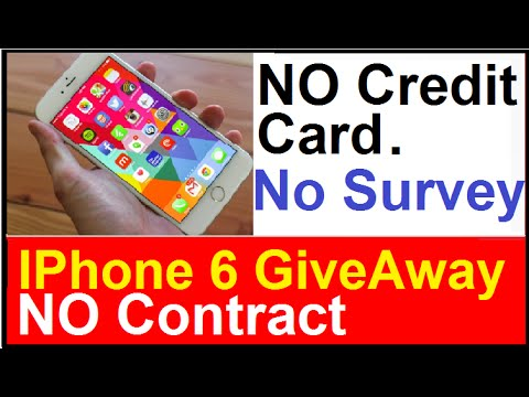 Free IPhone 6 Giveaway: No Credit Card - No Contract - No survey to Fill Out