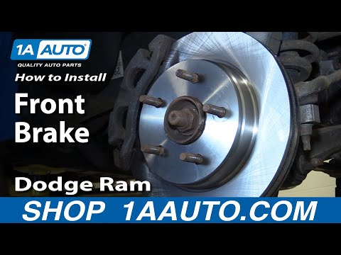 How To Install Repair Replace Front Brakes On Dodge Ram 1500 02-08 1AAuto.com