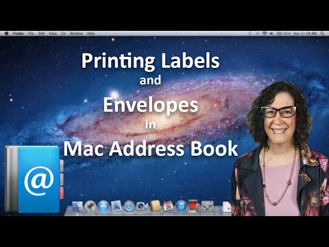 Printing Labels and Envelopes in Mac Address Book