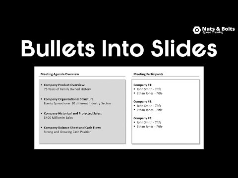 Turning Your Bullet Points into PowerPoint Slides