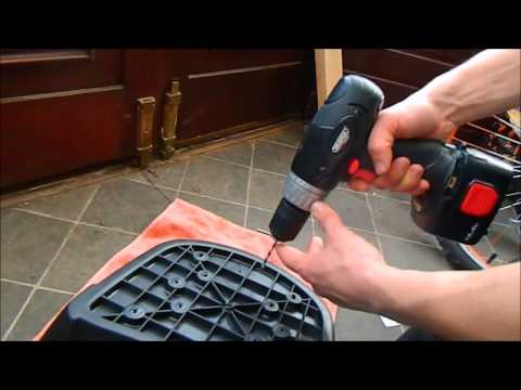 how to install universal top box on moped