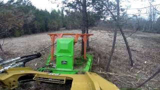 CAT 299D equipped with SS ECO Disc Mulcher out in the field