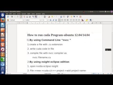 How to run cuda code using ubuntu 12.04/14.04
