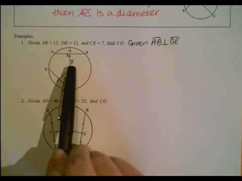 Perpendicular Bisectors of Chords Notes