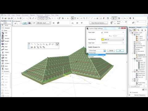Complex roofs in ARCHICAD - Editing individual roof planes