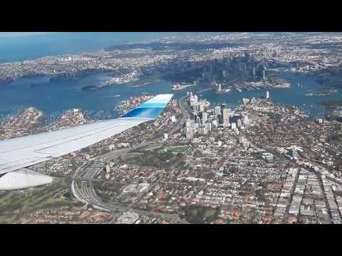 SYD HD United Airlines 747-400 Take-Off Sydney International Airport Great Views Boeing
