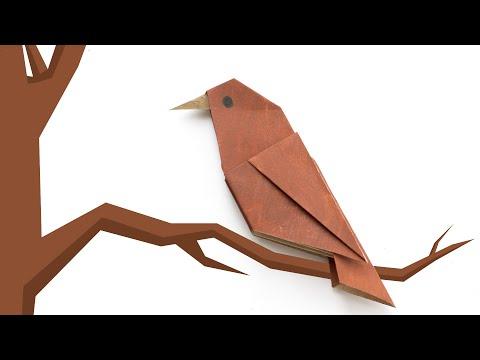 Origami bird. Simple origami for beginners