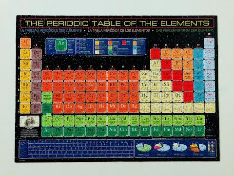 Periodic Table Puzzle Time Lapse