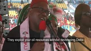 PDP Presidential candidate, Atiku Abubakar campaigns in Delta