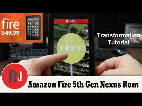 Amazon Fire 5th gen AOSP Nexus rom install with Flash Fire app