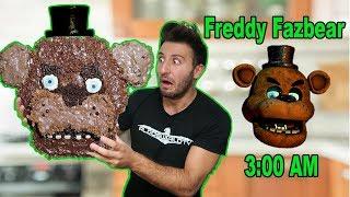 (HE CAME TO MY HOUSE?!) 3 AM GIANT FREDDY FAZBEAR CHOCOLATE DIY   FREDDY FAZBEAR HATES CHOCOLATE?