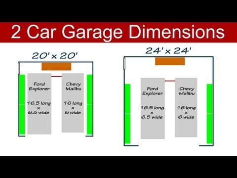 Ideal 2 Car Garage Dimensions