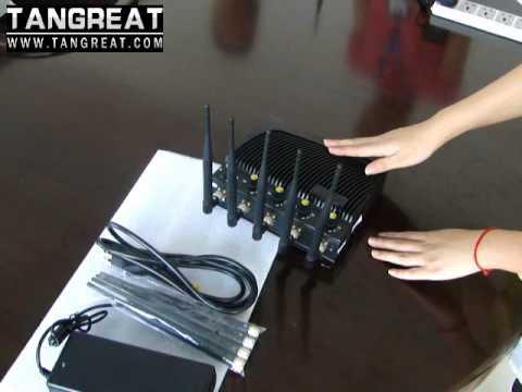 Adjustable Desktop 5 Bands Cellular Phone Jammer with Remote Control(GSM、3G、Wifi GPS 4G)