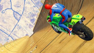 GTA 5 Spiderman Motorcycle Fails/Ragdolls #2 (Euphoria Physics, Crashes, Funny Moments)