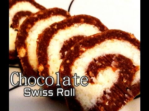 No Bake Swiss Roll - Eggless Quick And Easy Chocolate Cake Roll Recipe - Do At Home