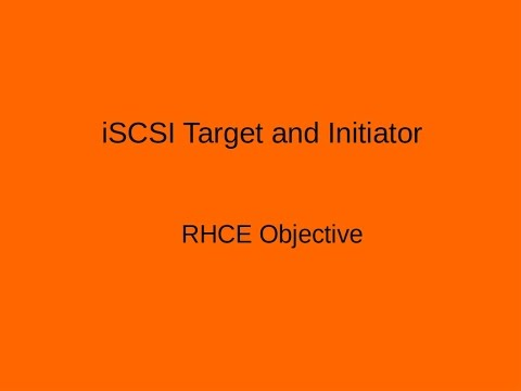 Setting up ISCSI Target and Initiator on Centos -7 (Redhat-7) RHCE Topic + LVM
