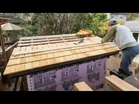 Installing Shingles on my Garden Shed Roof