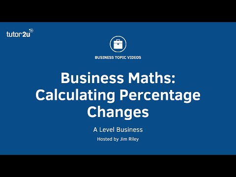 Business Maths - Calculating Percentage Changes