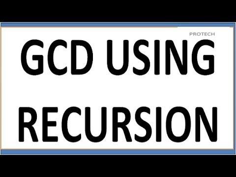 GCD/HCF  USING RECURSIVE FUNCTION (HINDI)