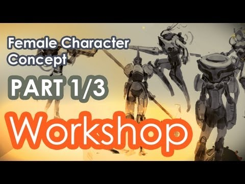 How to Concept a Game Character in Photoshop PART 1