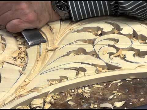 Wood carved  organ ornament