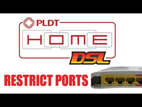 How to Restrict/Disable Lan Port in PLDT Home DSL Router