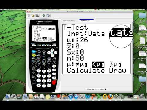How to do the Hypothesis t-test using the TI-84