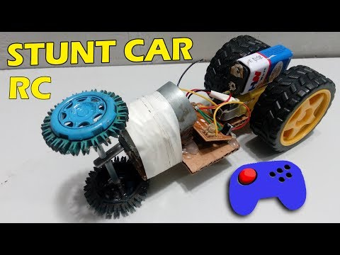 How to make a Remote Control Powerful Stunt Car At Home