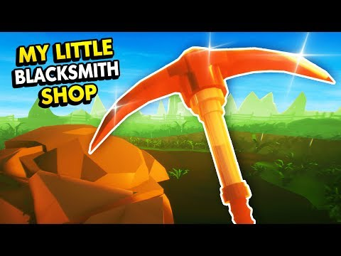 MINING UPDATE IN MY LITTLE BLACKSMITH SHOP! (My Little Blacksmith Shop Funny Gameplay)