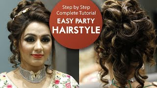 Easy Party Hairstyle Tutorial   Step By Step Bridal Hair Tutorial Video   Krushhh by Konica