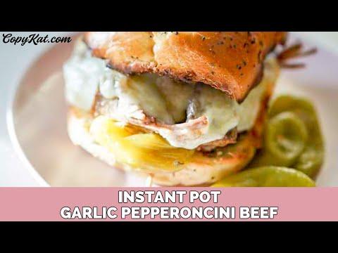 Instant Pot Garlic Pepperoncini Beef