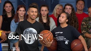 Teenage basketball dream team takes over Times Square