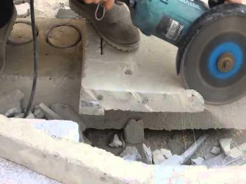 230mm diamond saw blade cutting reinforce concrete