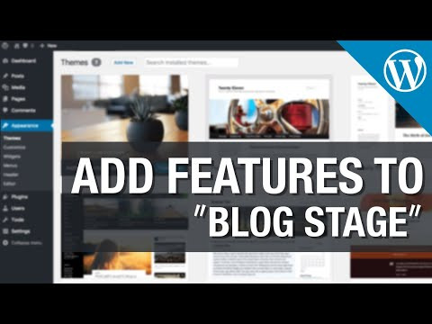 How to Add Features to WordPress Blog Stage