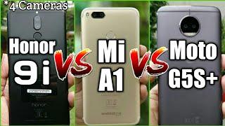 Huawei Honor 9i vs Xiaomi Mi A1 vs Moto G5S+ Comparison with Camera Samples [My Opinions]
