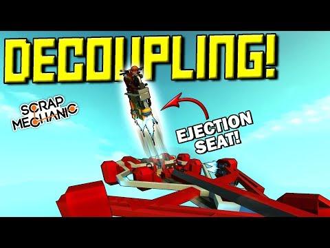 BOMB DECOUPLING, 3-STAGE ROCKET, EJECTION SEAT! [Spud Gun Update Ep 3] - Scrap Mechanic Gameplay