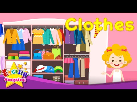 Kids vocabulary - Clothes - clothing - Learn English for kids - English educational video