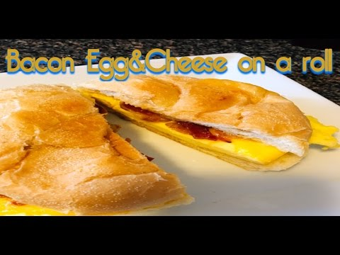 How To Make Bacon Egg & Cheese on a Roll // A New York Breakfast Classic