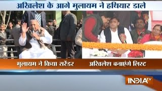 Mulayam likely to Hand over List of Candidates to Akhilesh for UP Poll