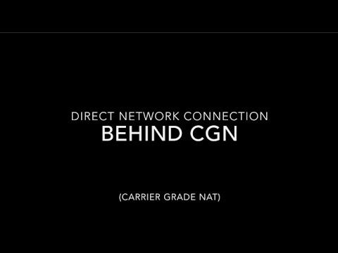 Cellular VPN Across Carrier Grade NAT CGN No public IP