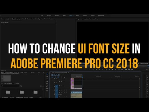 How to Change UI Font Size in Premiere Pro – Quick Tutorial